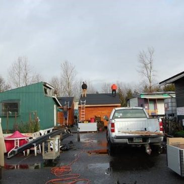 Completion of 4 tiny houses at Dignity Village